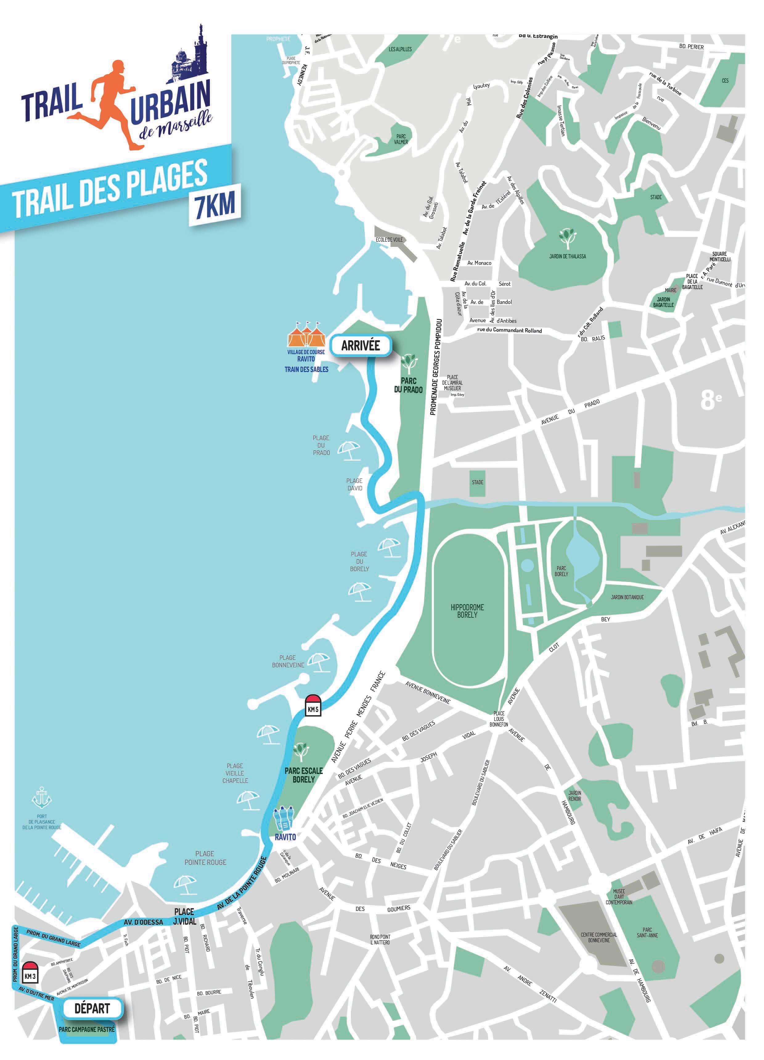 parcours trail des plages, Trail urbain de Marseille 2018, courir à Marseille