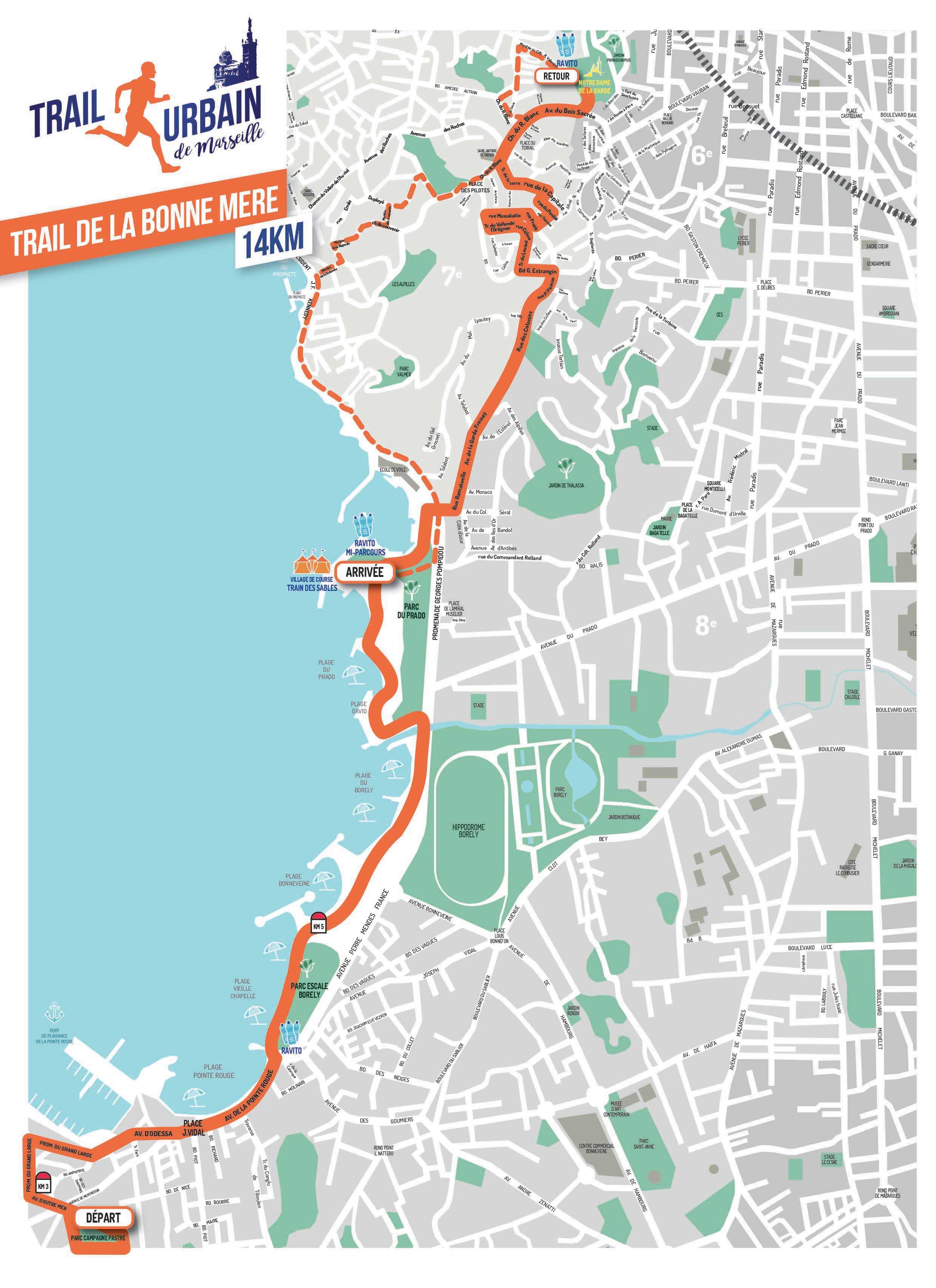 parcours trail de la bonne mère, Trail urbain de Marseille 2018, courir à Marseille