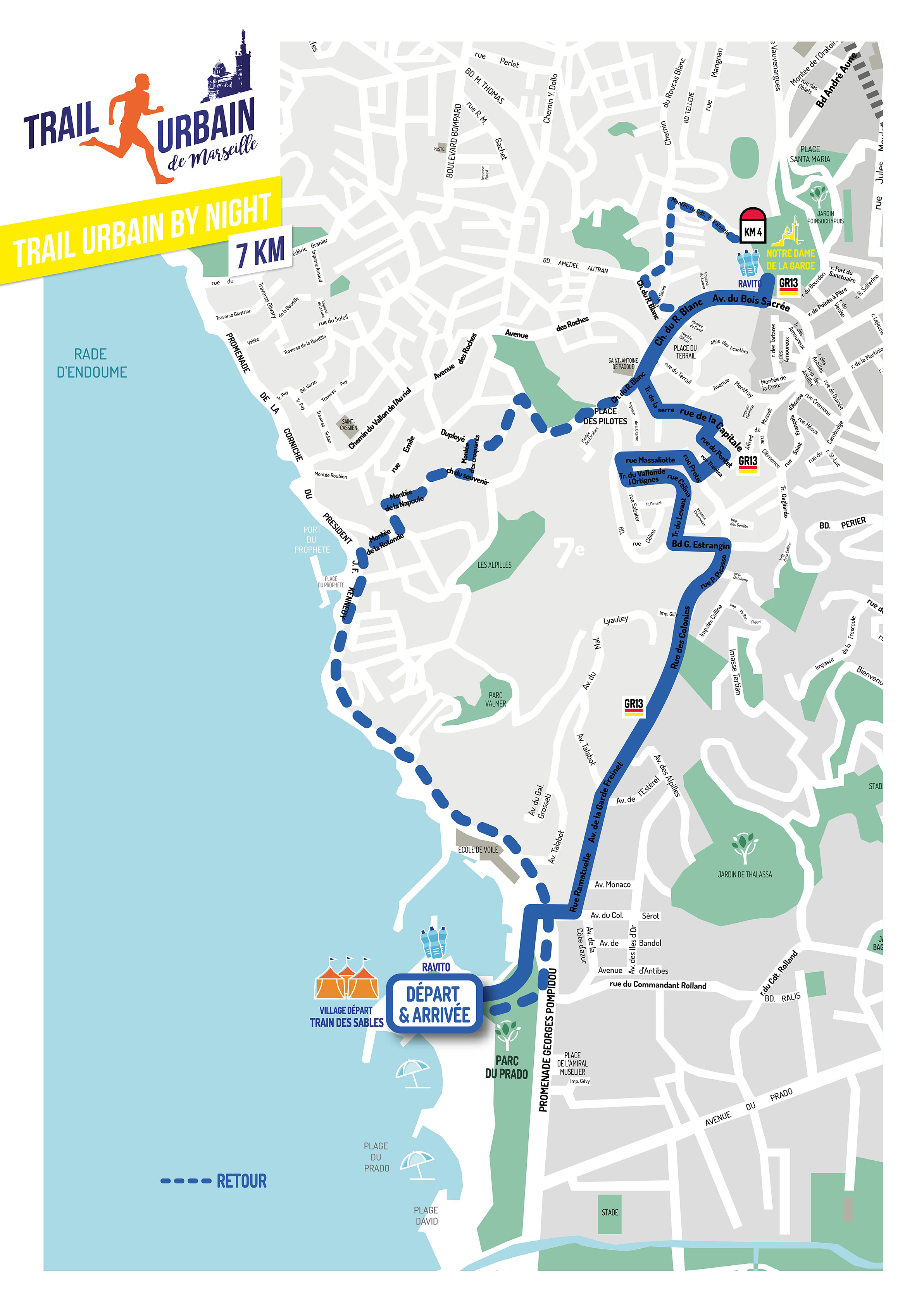 parcours trail by night, Trail urbain de Marseille 2018, courir à Marseille